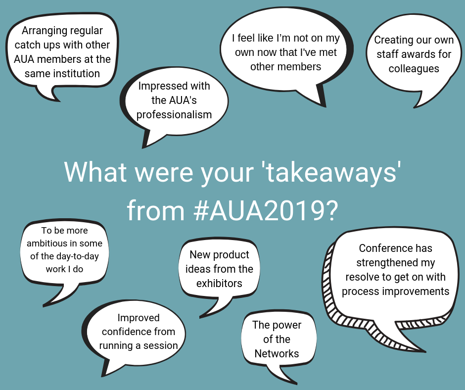 Delegates share their AUA2019 Conference takeaways