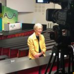 Dame Shirley Pearce being interviewed for the AUA live stream following her plenary address at the AUA Conference 2019